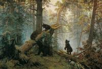 Ivan Shishkin : Morning in the Pine Tree Forest