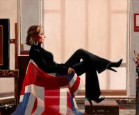 Jack Vettriano : Portrait of Zara Phillips, 13th in line to the throne