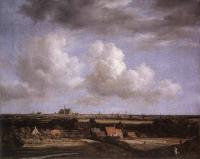 Jacob Van Ruisdael : Landscape With A View Of Haarlem