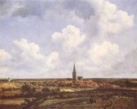 Jacob Van Ruisdael : Landscape With Church And Village