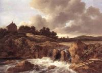 Jacob Van Ruisdael : Landscape With Waterfall
