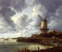 Jacob Van Ruisdael : Mill at Wijk near Duursteede