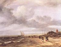 Jacob Van Ruisdael : The Shore At Egmond an Zee