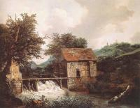 Jacob Van Ruisdael : Two Watermills And An Open Sluice Near Singraven