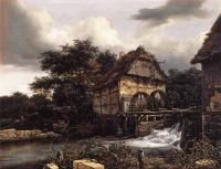 Jacob Van Ruisdael : Two Water Mills And Open Sluice