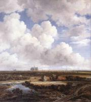 Jacob Van Ruisdael : View Of Haarlem With Bleaching Grounds