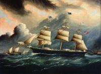 James E Buttersworth : Clipper GASPEE off Sandy Hook
