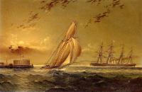 James E Buttersworth : English Steamer off Staten Island