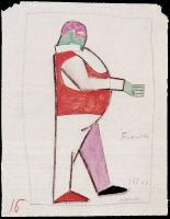 Kazimir Malevich : Costume design for the opera, Victory over the Sun