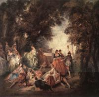 Nicolas Lancret : Company in the Park
