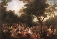 Nicolas Lancret : Fete in a Wood