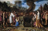 Pieter Lastman : Orestes and Pylades Disputing at the Altar
