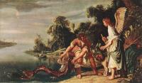 Pieter Lastman : The Angel and Tobias with the Fish