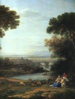 Claude Lorrain : The Rest on the Flight into Egypt, detail