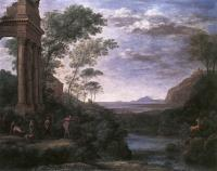 Claude Lorrain : Landscape with Ascanius Shooting the Stag of Sylvia