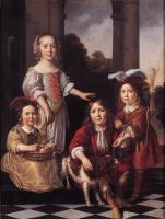 Nicolaes Maes : Portrait of Four Children