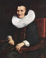 Nicolaes Maes : Portrait of Margaretha de Geer, Wife of Jacob Trip