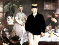 Edouard Manet : Breakfast in the Studio (the Black Jacket)