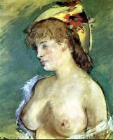 Edouard Manet : Blonde Woman with Bare Breasts II