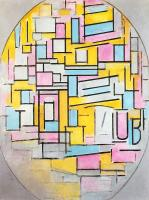 Piet Mondrian : Composition with Oval in Color Planes II