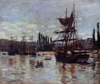 Claude Oscar Monet : Boats at Rouen
