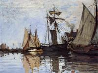 Claude Oscar Monet : Boats in the Port of Honfleur