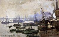 Claude Oscar Monet : Boats in the Port of London