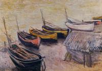 Claude Oscar Monet : Boats on the Beach