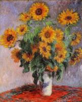 Claude Oscar Monet : Bouquet of Sunflowers