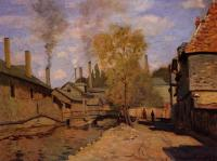Claude Oscar Monet : Factories at Deville, near Rouen