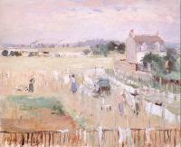 Berthe Morisot : Hanging the Laundry out to Dry