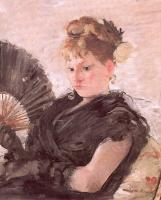 Berthe Morisot : Woman with a Fan (Head of a Girl)