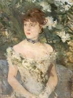 Berthe Morisot : Young Woman Dressed for the Ball