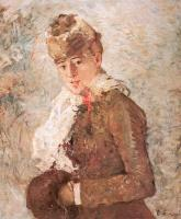 Berthe Morisot : Winter (Woman with a Muff)