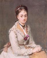 Berthe Morisot : Portrait of Edma (The Artist's Sister)