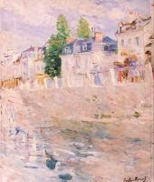 Berthe Morisot : The Quay at Bougival