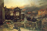 Alphonse-Marie-Adolphe De Neuville : The Cemetery at St Privat