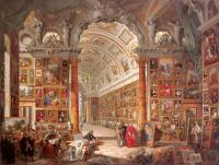 Giovanni Paolo Panini : Interior of a Picture Gallery with the Collection of Cardinal Gonzaga