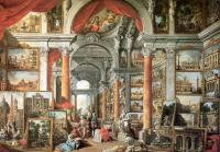 Giovanni Paolo Panini : Picture Gallery with Views of Modern Rome