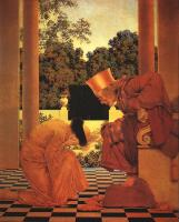 Maxfield Parrish : Lady Ursula Kneeling before Pompdebile