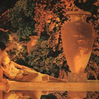 Maxfield Parrish : The Garden of Allah, detail