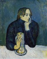 Pablo Picasso : the glass of beer