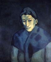 Pablo Picasso : woman with a shawl