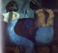 Pablo Picasso : prostitutes at a bar