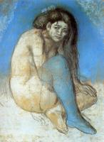 Pablo Picasso : nude with crossed legs