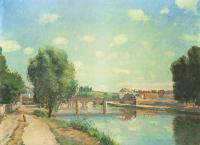 Camille Pissarro : The Railway Bridge at Pontoise