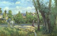 Camille Pissarro : Sunlight on the Road, Pontoise