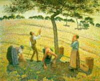 Camille Pissarro : Apple Picking at Eragny-sur-Epte