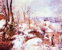 Camille Pissarro : A Cottage in the Snow