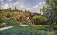 Camille Pissarro : A Cowherd on the Route de Chou, Pontoise